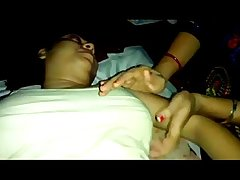 Creamy Tickling & Foreplay Session of Desi Wife Spiced Up by Lady Friend