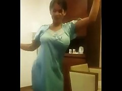 Hot Desi Girl Dancing with Transparent Dress